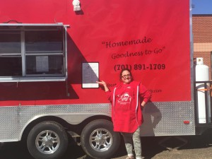Kimi Fischer with her food truck