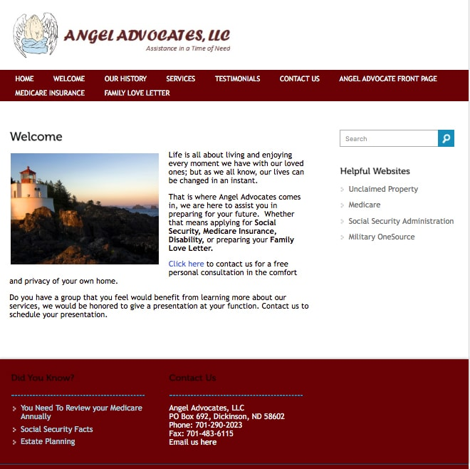Angel Advocates Before Website