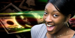a-happy-or-surprised-young-black-woman-in-front-of-a-money-montage-background