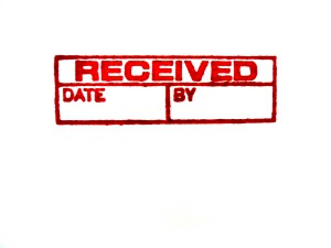 Received Stamp with Date and By