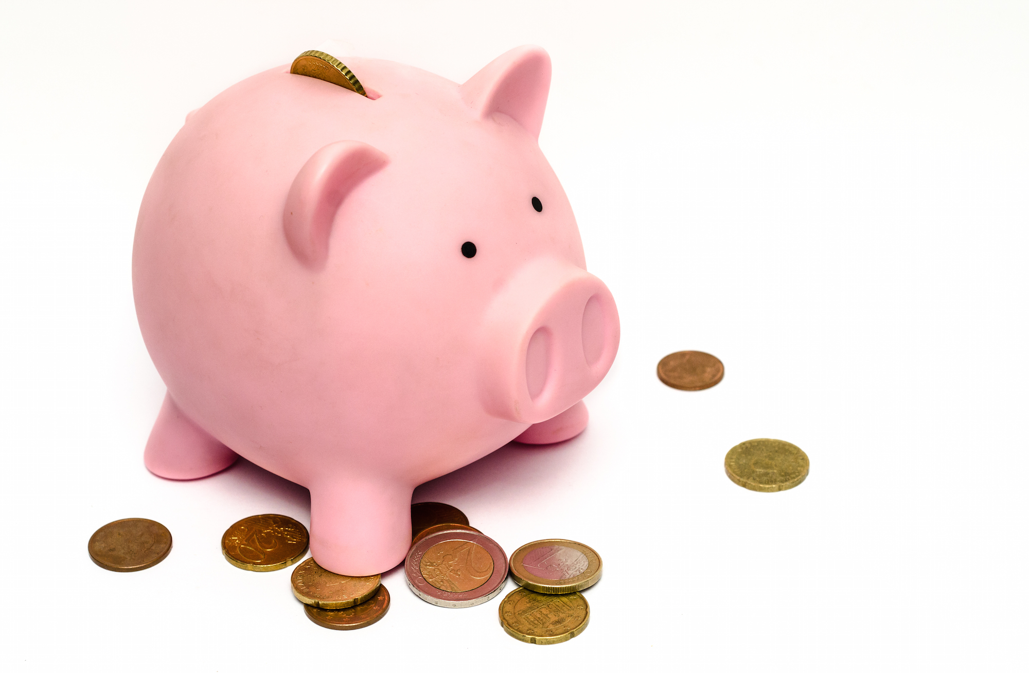 Change with a piggy bank