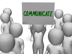 Communicate Sign Showing Speaker Or Discussion - employee retention strategies
