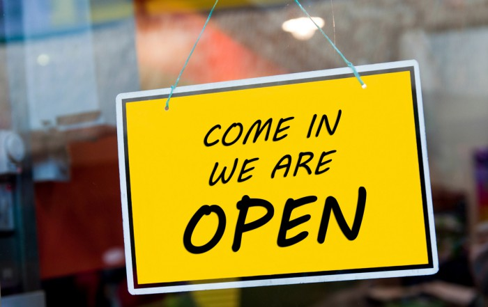 Open sign - Home-Based Business