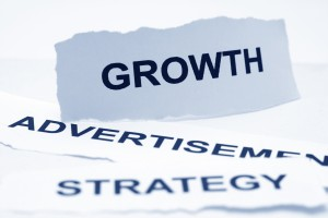 Growth advertisement strategy concept - advertising business