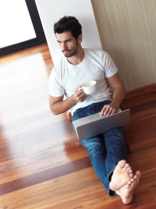 working on laptop computer from home - Online Business Opportunities