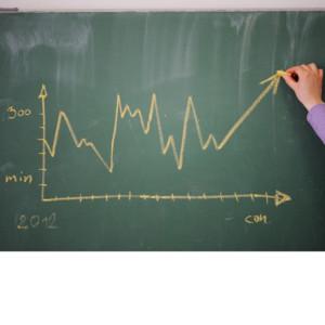 Diagram on a blackboard - advertising business
