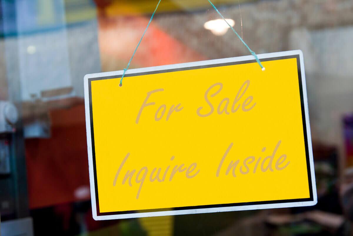 For Sale Door sign