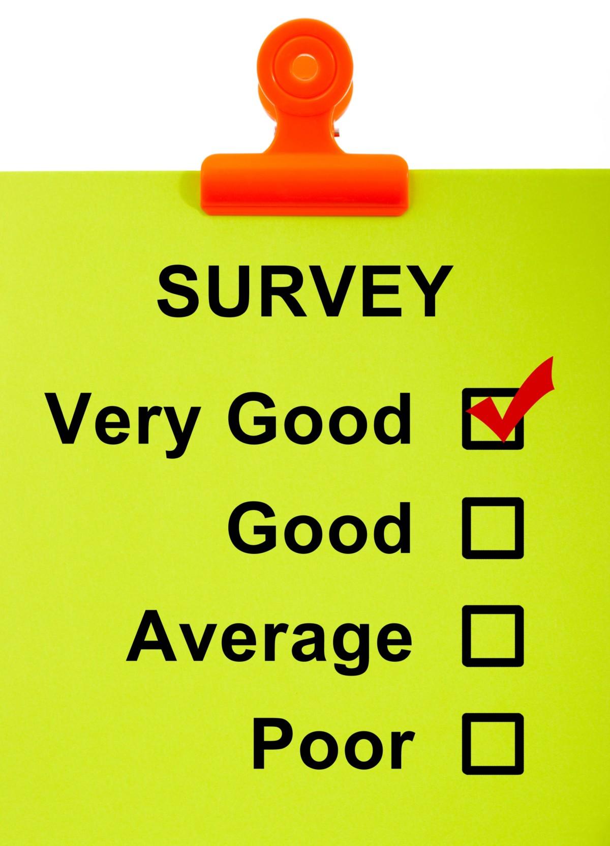 Green Survey on Clipboard
