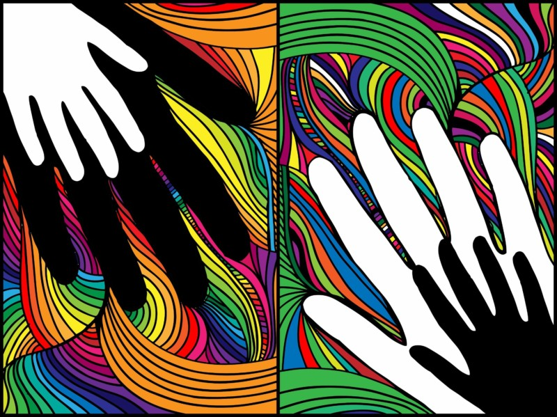 sketch-of-hand-on-abstract-background-vector-illustration