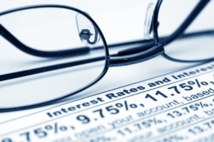 Interest rates with glasses - Business Startup Loans