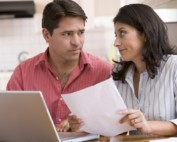 Couple assessing a bad credit business loan