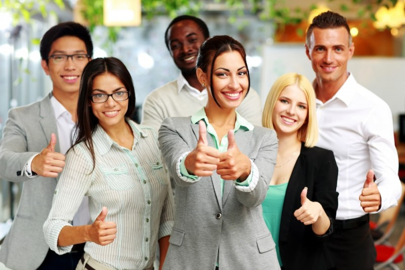 Diverse work group - online business opportunities
