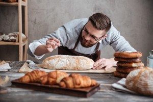 concentrated man baker - bakery business