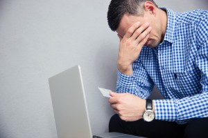 Man stressed with Credit -credit score info