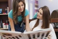 Woman in salon - hair salon business plan
